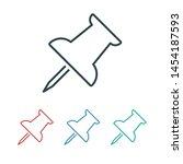 vector push pin icon  pushpin... | Shutterstock .eps vector #1454187593