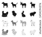 vector illustration of breeding ... | Shutterstock .eps vector #1454194376