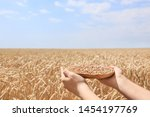 Woman Holding Plate With Wheat...