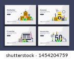 set of modern flat design... | Shutterstock .eps vector #1454204759