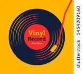 vinyl record music vector with...   Shutterstock .eps vector #1454209160