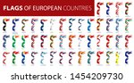 set of flags of europe. vector... | Shutterstock .eps vector #1454209730