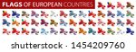 set of flags of europe. vector... | Shutterstock .eps vector #1454209760