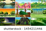 sets of empty nature... | Shutterstock .eps vector #1454211446