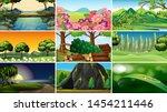 sets of empty nature... | Shutterstock .eps vector #1454211446
