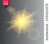 glowing light on transparent... | Shutterstock .eps vector #1454221670