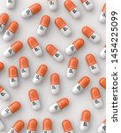 salmon and white vitamin b1... | Shutterstock . vector #1454225099