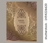 wedding invitation card with... | Shutterstock .eps vector #1454226620