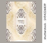 wedding invitation card with... | Shutterstock .eps vector #1454226839