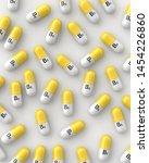 yellow and white vitamin b5... | Shutterstock . vector #1454226860