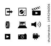 various multimedia icon vector...