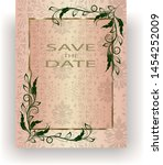 template wedding invitation or... | Shutterstock .eps vector #1454252009
