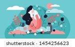 allergy vector illustration.... | Shutterstock .eps vector #1454256623
