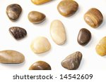 isolated assorted pebbles... | Shutterstock . vector #14542609