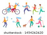 people outdoor activities hobby ... | Shutterstock . vector #1454262620