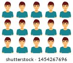 a large set of emotions.... | Shutterstock .eps vector #1454267696