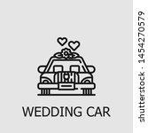 outline wedding car vector icon.... | Shutterstock .eps vector #1454270579