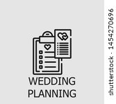 outline wedding planning vector ... | Shutterstock .eps vector #1454270696