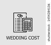 outline wedding cost vector... | Shutterstock .eps vector #1454284136
