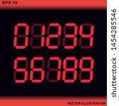 stereoscopic numbers.electronic ... | Shutterstock .eps vector #1454285546