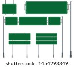 green traffic signs isolated on ... | Shutterstock .eps vector #1454293349