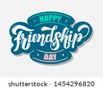 art sign with happy friendship... | Shutterstock .eps vector #1454296820