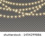 christmas lights isolated on... | Shutterstock .eps vector #1454299886