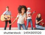 Teenage Musicians Playing...