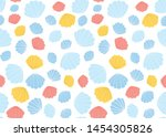hand drawn seamless...   Shutterstock .eps vector #1454305826