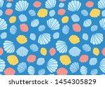 hand drawn seamless...   Shutterstock .eps vector #1454305829