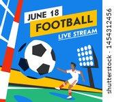 football web banner. live... | Shutterstock .eps vector #1454312456