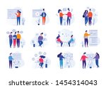 collection of illustrations... | Shutterstock .eps vector #1454314043