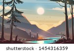 unbelievable mountain landscape.... | Shutterstock .eps vector #1454316359