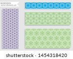 set of colorful seamless... | Shutterstock .eps vector #1454318420