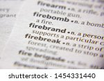Small photo of Word or phrase Firebrand in a dictionary