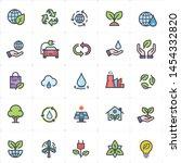 icon set   environment full... | Shutterstock .eps vector #1454332820