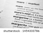 Small photo of Word or phrase Mare's nest in a dictionary