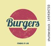 retro food sign   vintage... | Shutterstock .eps vector #145434733