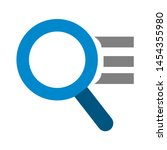 magnifying icon. flat...   Shutterstock .eps vector #1454355980