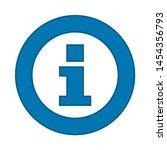 info icon. flat illustration of ... | Shutterstock .eps vector #1454356793