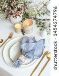 stylish and romantic dinning...   Shutterstock . vector #1454374796