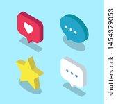 set of social media isometric... | Shutterstock .eps vector #1454379053