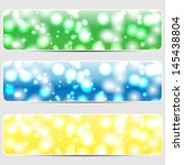 set of abstract shiny... | Shutterstock .eps vector #145438804