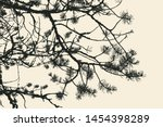 pine tree and branches... | Shutterstock .eps vector #1454398289