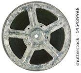 film reel isolated on white   Shutterstock . vector #145439968