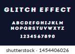 glitch vector font. eps 10 | Shutterstock .eps vector #1454406026
