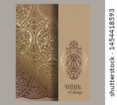wedding invitation card with... | Shutterstock .eps vector #1454418593