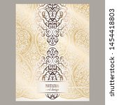 wedding invitation card with... | Shutterstock .eps vector #1454418803