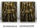 template wedding invitation ... | Shutterstock .eps vector #1454424290
