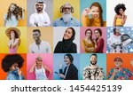 people collage. composit with... | Shutterstock . vector #1454425139